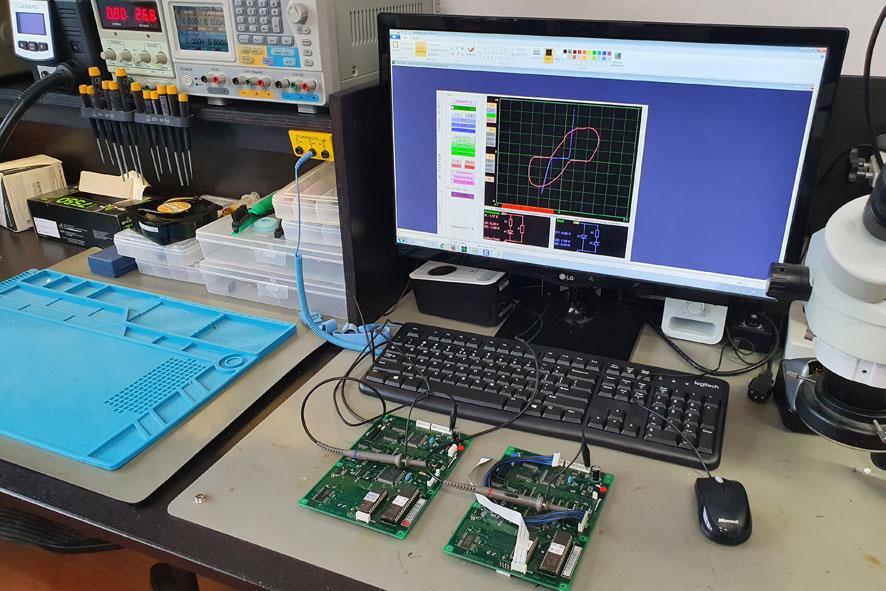 Print reparatie met VI trace apparatuur